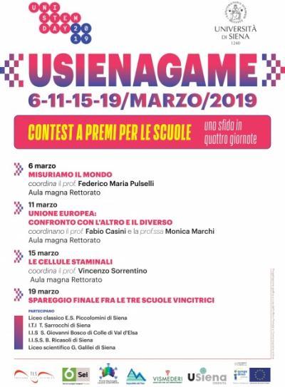 immagine locandina USiena game 2019